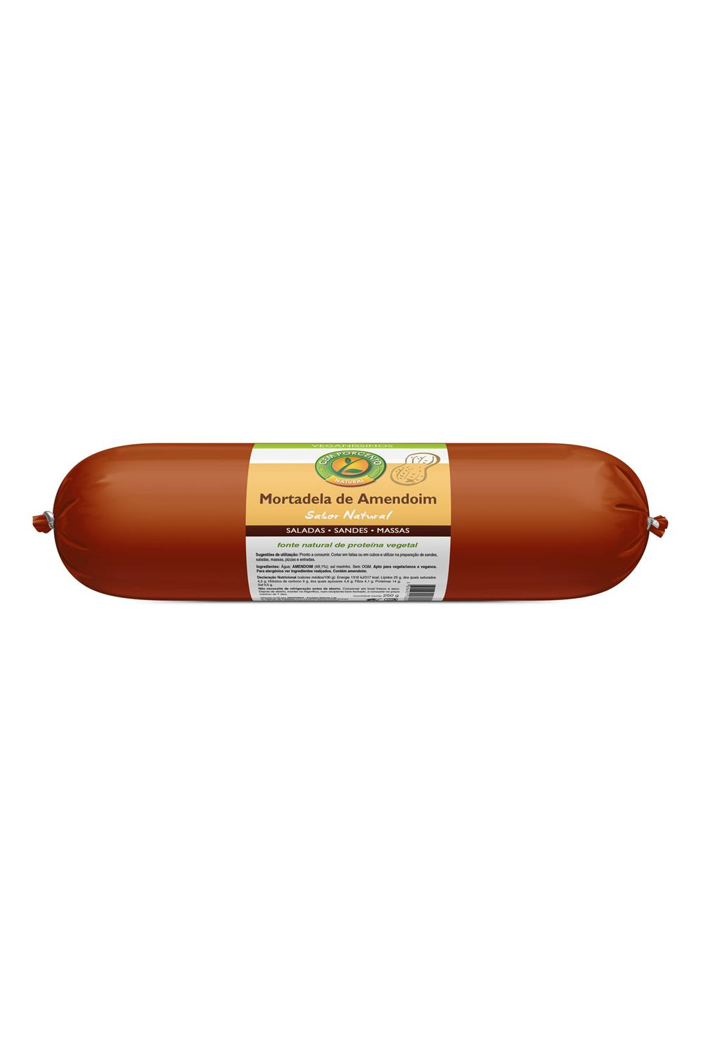 mortadela de amendoim vegan 250g