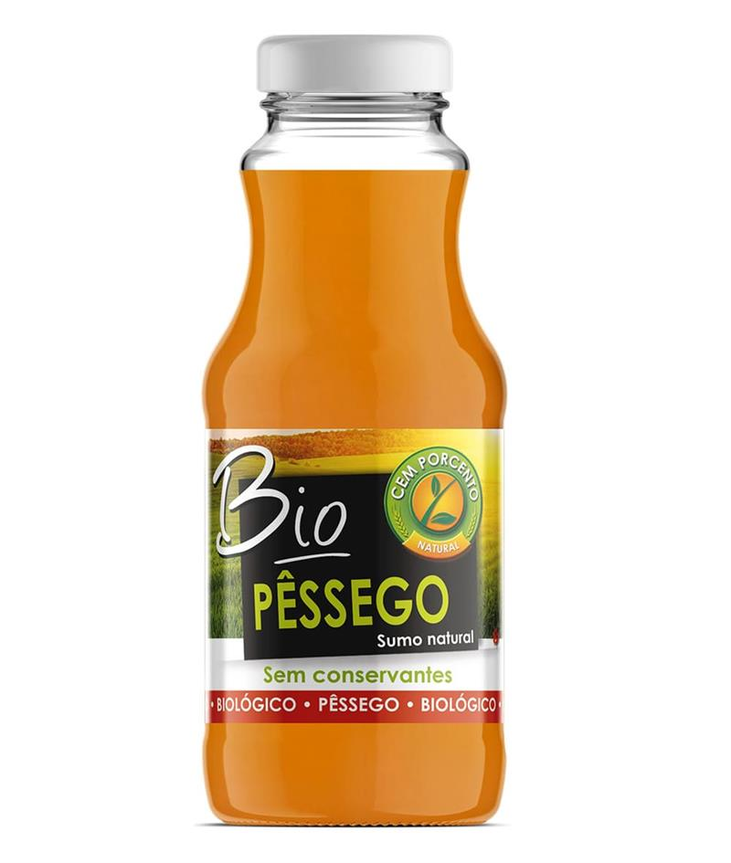 sumo natural de pêssego bio 200ml